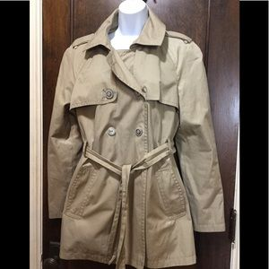 Express Women Sz Large Tan Trench All Weather Coat